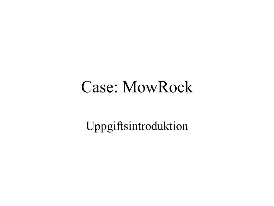 Case: MowRock Uppgiftsintroduktion