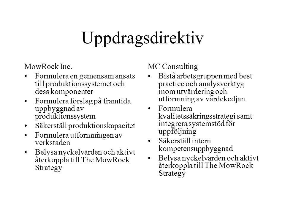 Uppdragsdirektiv MowRock Inc.
