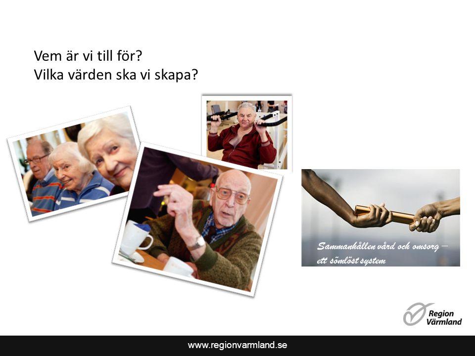 www.regionvarmland.se Vem är vi till för. Vilka värden ska vi skapa.