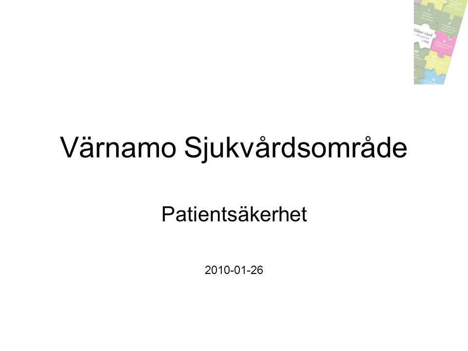 Värnamo Sjukvårdsområde Patientsäkerhet 2010-01-26