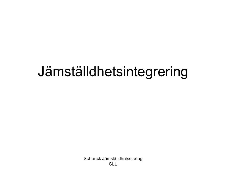Schenck Jämställdhetsstrateg SLL JÄMIX® – 20086 JÄMIX ® i jämförelse med föregående år