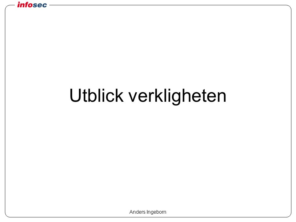 Anders Ingeborn Utblick verkligheten