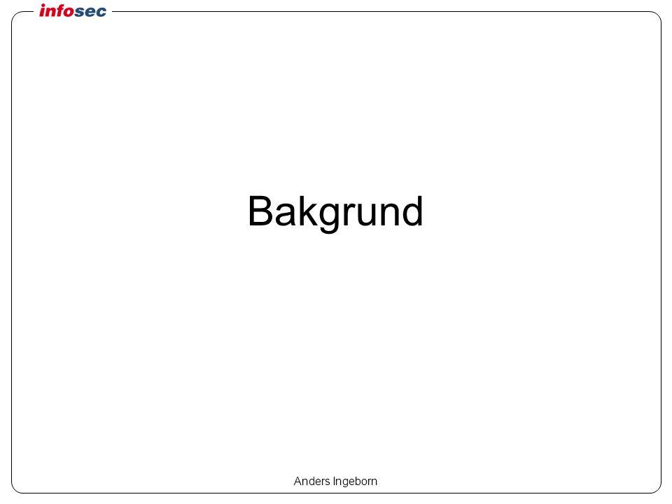 Anders Ingeborn Åtgärder Larm –E-post, personsökare, telefon Omkonfigurering av brandväggar etc –OPSEC m fl Avsluta sessioner Motattacker –Falska avsändaradresser….
