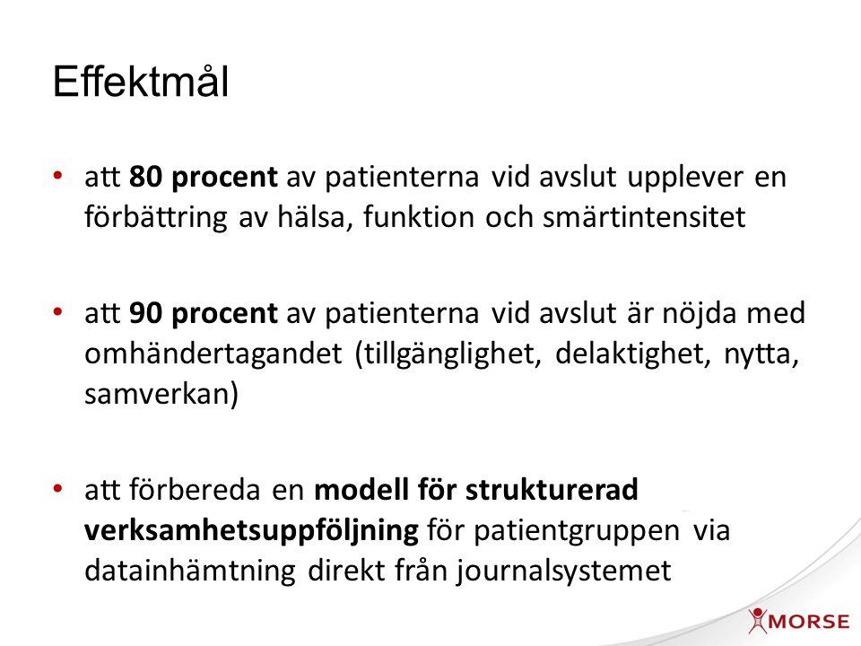 Effektmål - fortsättning att förtydliga kring vilka riktlinjer som ska gälla för remittering av patienter med ryggbesvär i Skåne avseende radiologisk undersökning, ryggortopedisk respektive reumatologisk bedömning.