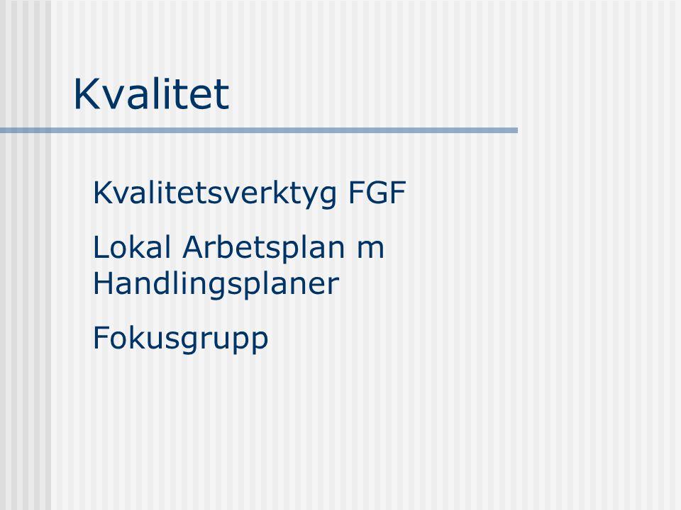 Kvalitet Kvalitetsverktyg FGF Lokal Arbetsplan m Handlingsplaner Fokusgrupp