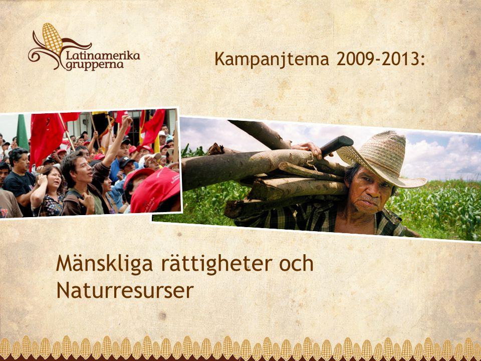 Mänskliga rättigheter och Naturresurser Kampanjtema 2009-2013: