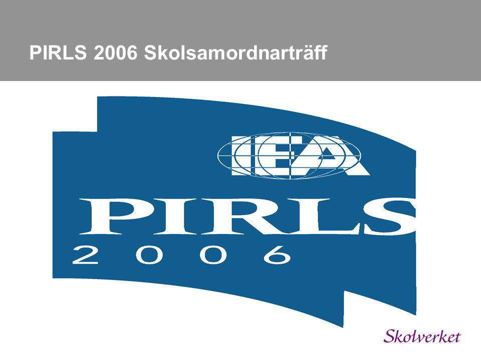 Dagordning 10.00 – 10.10 Välkomna o presentation 10.10 – 11.30 Läsforskning idag 11.40 – 12.00 Lite om PIRLS 12.00 – 13.00 *** LUNCH *** 13.00 – 15.00 PIRLS genomförandet 15.00 – 15.30 Kaffe 15.30SLUT