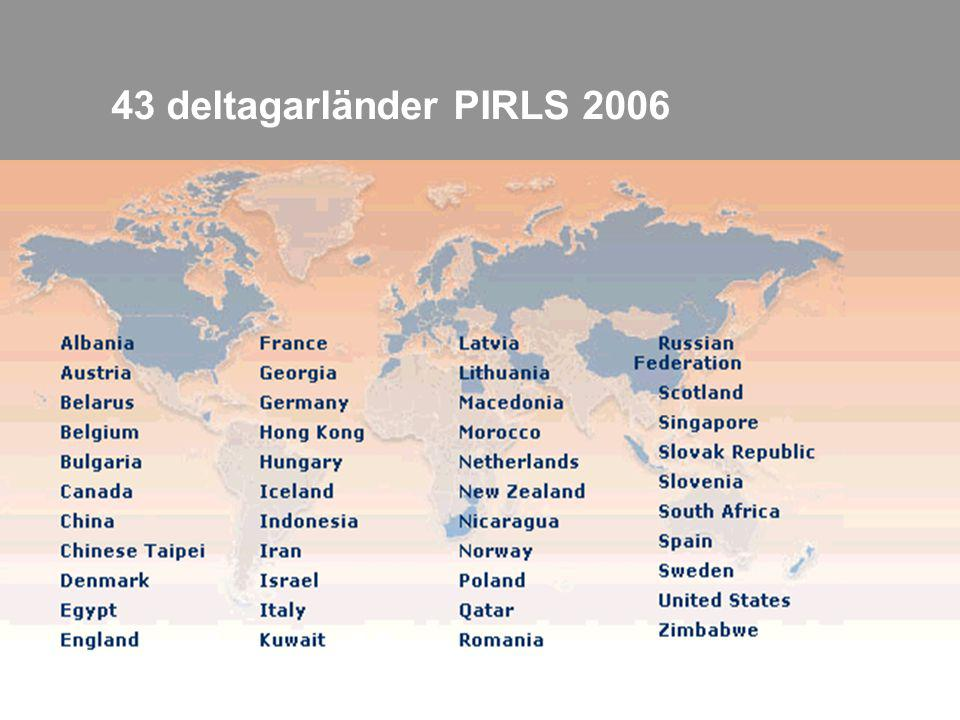 43 deltagarländer PIRLS 2006