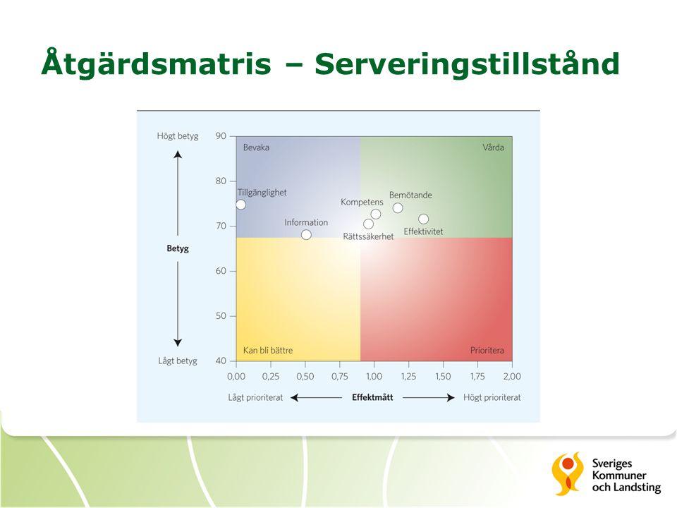 Åtgärdsmatris – Serveringstillstånd