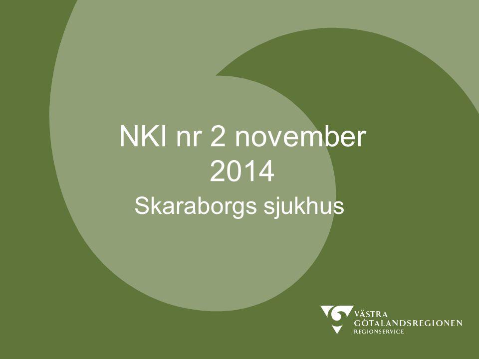 NKI nr 2 november 2014 Skaraborgs sjukhus