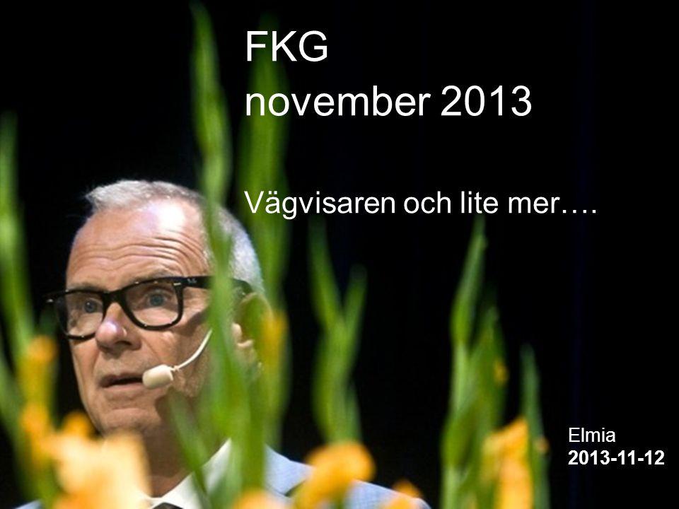 1 1 FKG november 2013 Vägvisaren och lite mer…. Elmia 2013-11-12