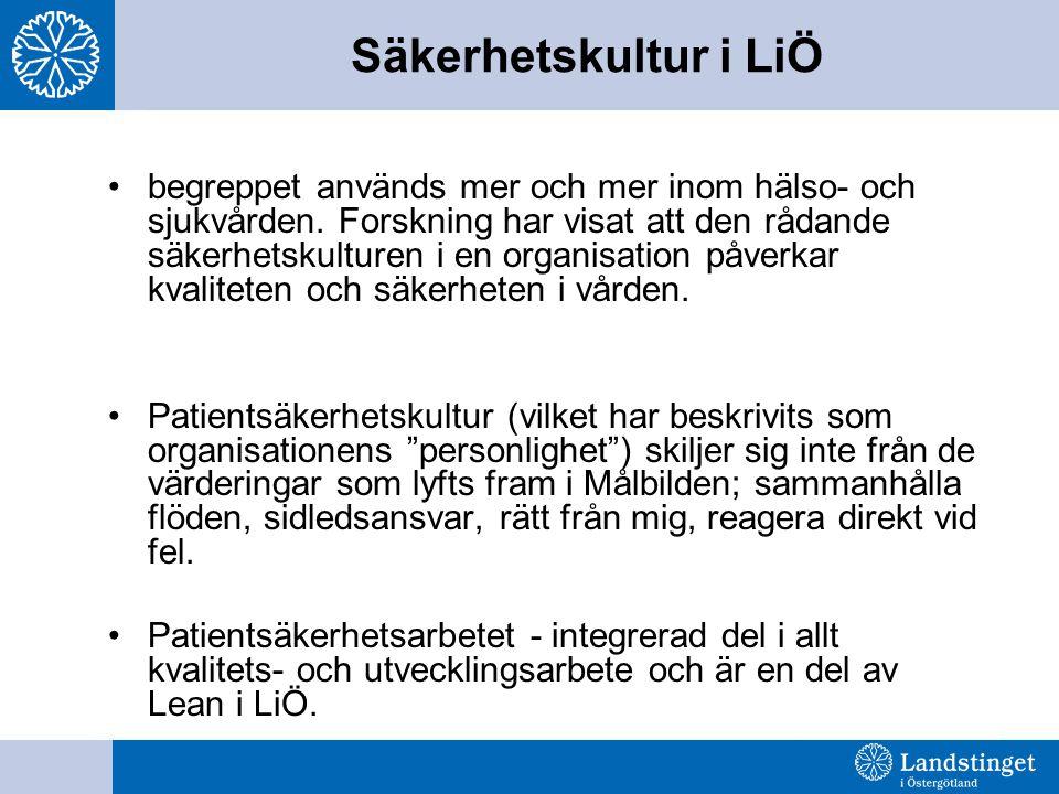 Säkerhetskultur i LiÖ begreppet används mer och mer inom hälso- och sjukvården.