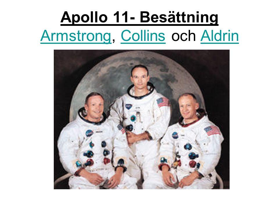 Apollo 11- Besättning Armstrong, Collins och Aldrin ArmstrongCollinsAldrin