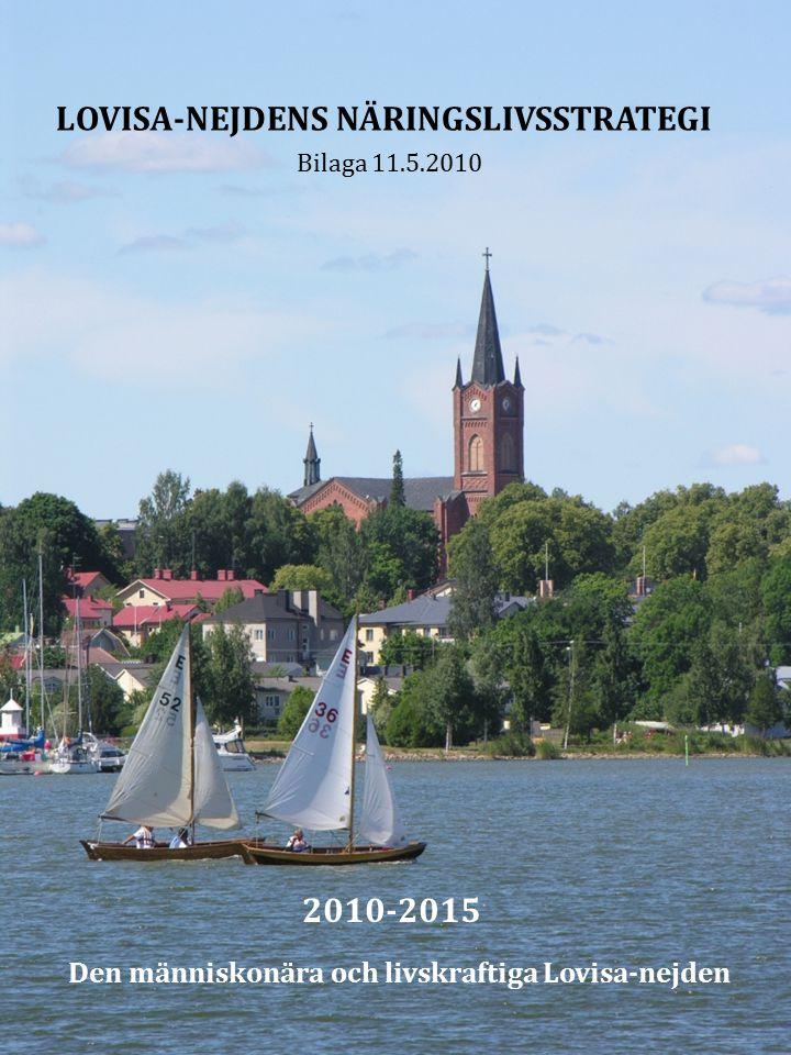 LOVISA-NEJDENS NÄRINGSLIVSSTRATEGI Bilaga 11.5.2010 2010-2015 Den människonära och livskraftiga Lovisa-nejden
