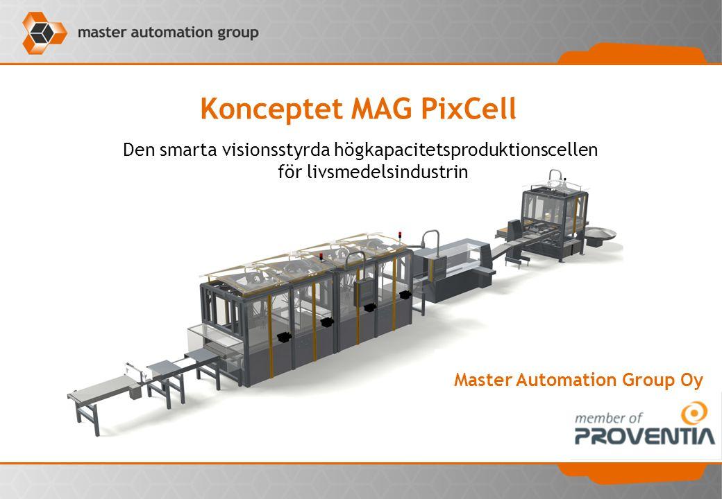 Den smarta visionsstyrda högkapacitetsproduktionscellen för livsmedelsindustrin Konceptet MAG PixCell Master Automation Group Oy