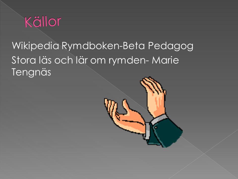 Wikipedia Rymdboken-Beta Pedagog Stora läs och lär om rymden- Marie Tengnäs