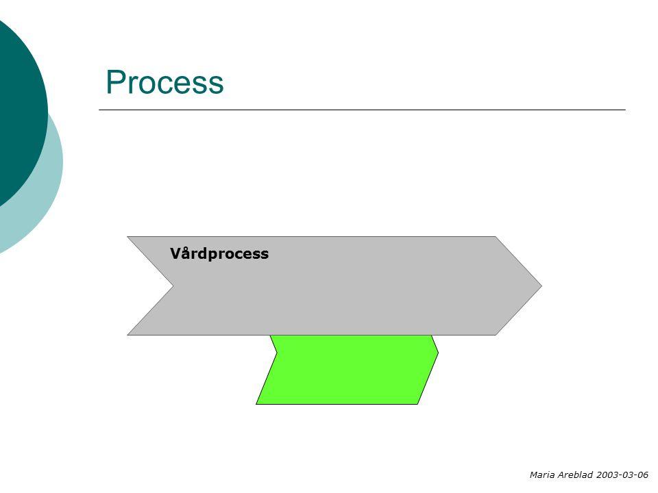 Process Maria Areblad 2003-03-06 Vårdprocess