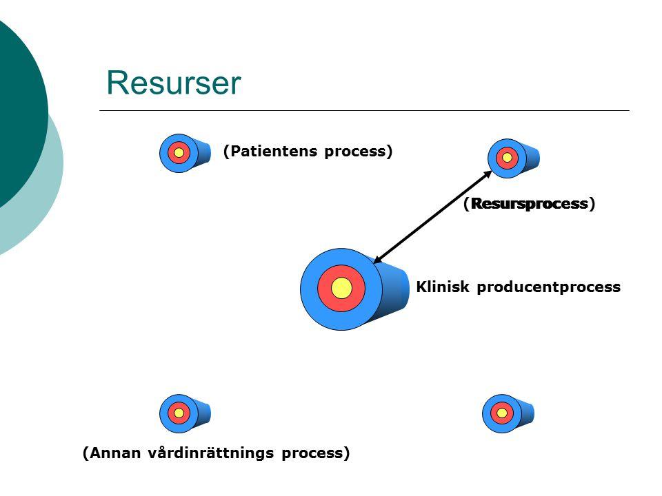 Resurser Klinisk producentprocess (Annan vårdinrättnings process) (Patientens process) (Resursprocess)Resursprocess
