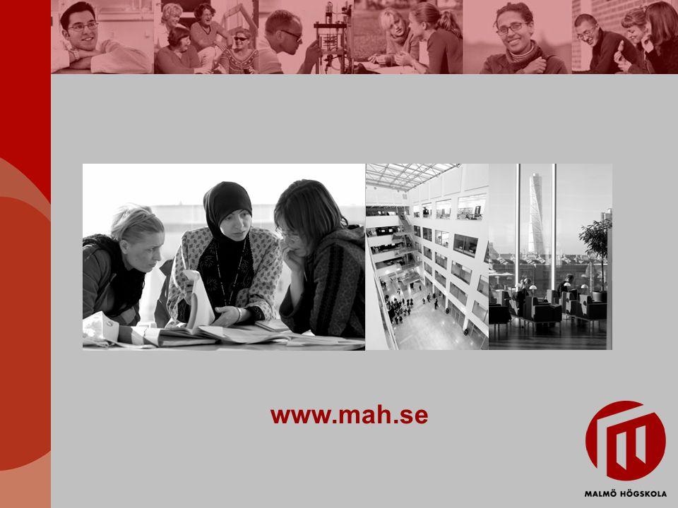 Hälsa och samhälle Cirka 3 000 studenter Ungefär 220 anställda 17 programutbildningar Ett antal fristående kurser startar varje termin