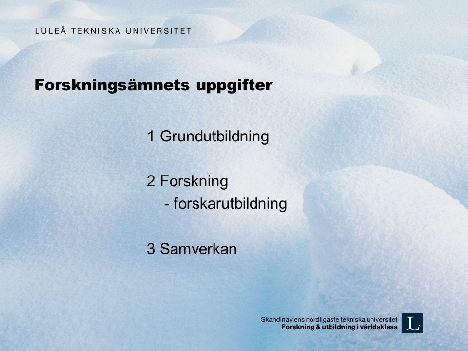 Forskarutbildningens resultat Forskarutbildning Människa Forskning, papers