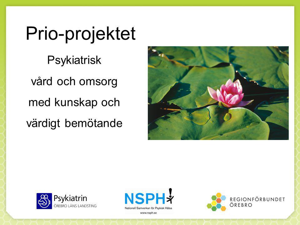 Psykiatrisk vård och omsorg med kunskap och värdigt bemötande Prio-projektet