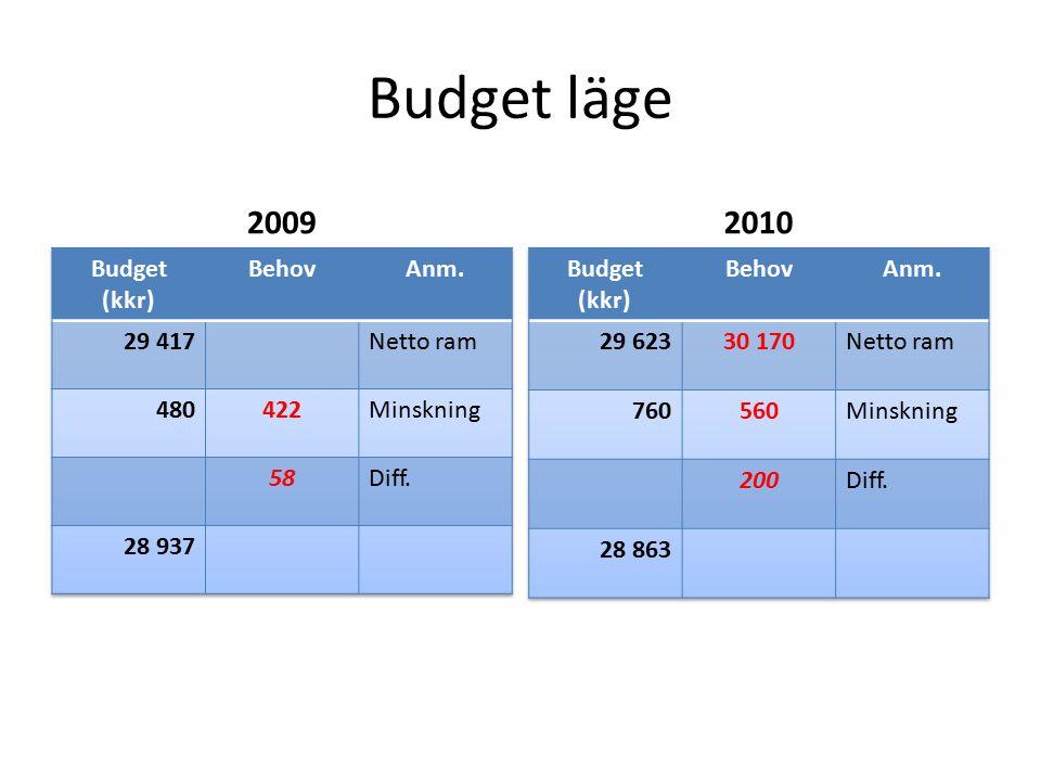 Budget läge 20092010