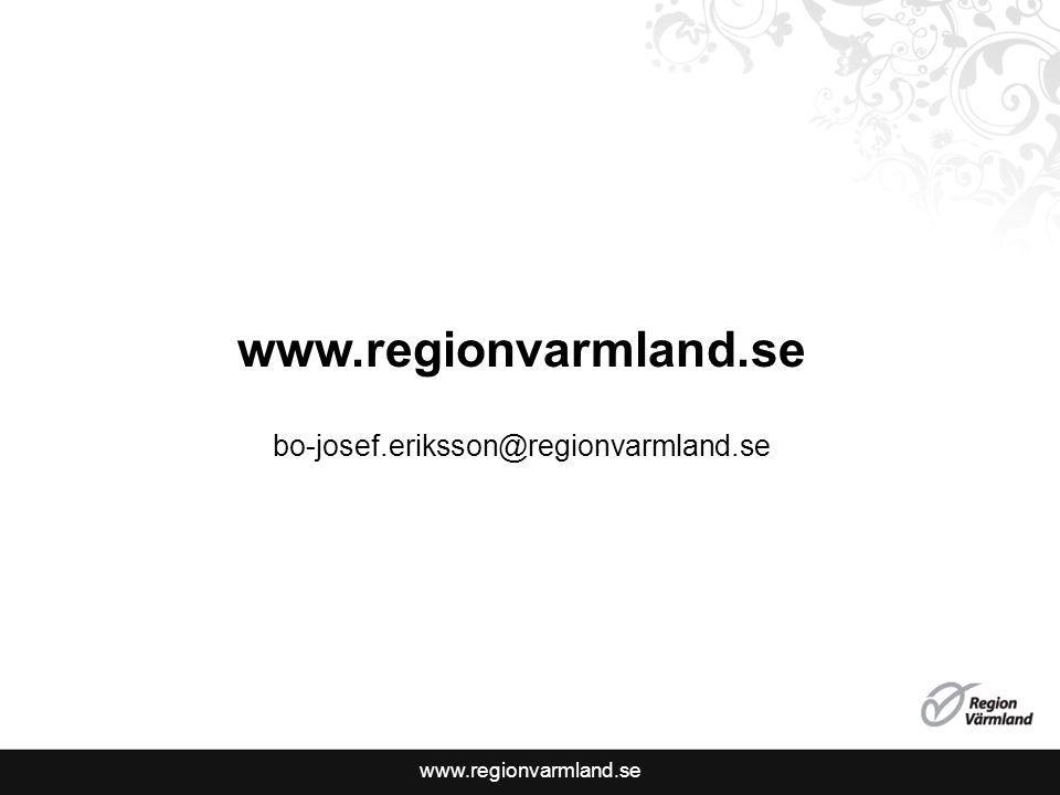www.regionvarmland.se bo-josef.eriksson@regionvarmland.se