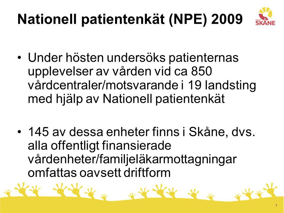 13 SKL:s arbetsmodell för utveckling av Nationell Patientenkät Källa: Sveriges kommuner och landsting