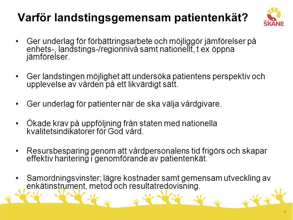 7 Uppdrag om öppna jämförelser av landstingens primärvård Regeringsuppdrag 2009-04-14 www.commonwealthfund.org Nordisk prosjektgruppe om indikatorer for pasienterfaringer Ledningssystem för kvalitet och patientsäkerhet i hälso- och sjukvården Socialstyrelsens föreskrifter (SOSFS 2005:12) Källa: Sveriges kommuner och landsting