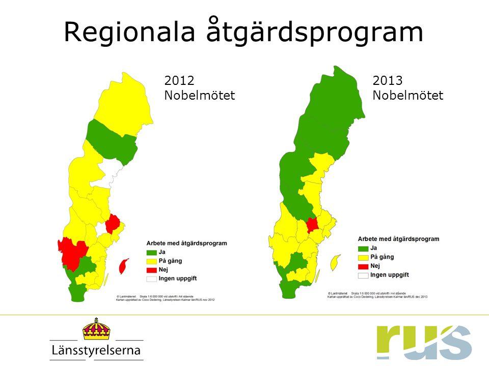 2012 Nobelmötet 2013 Nobelmötet Regionala åtgärdsprogram