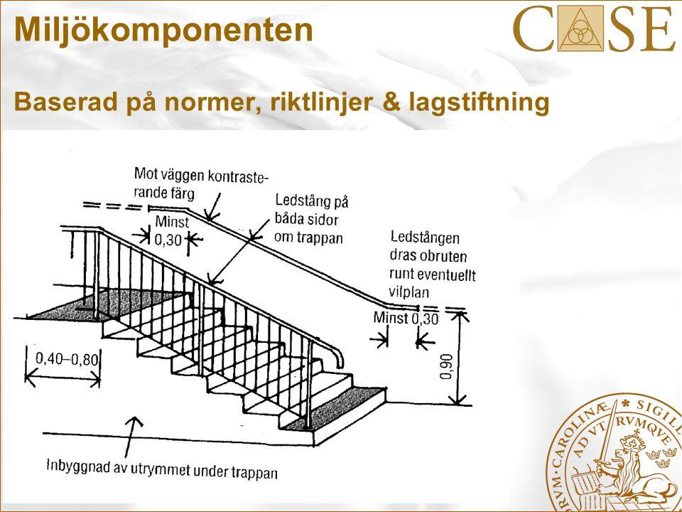 Miljökomponenten Baserad på normer, riktlinjer & lagstiftning