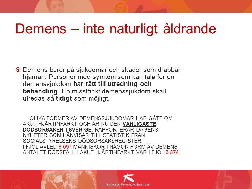 Ny forskning visar att varannan svensk riskerar att få någon form av demenssjukdom.På mindre än sju år har andelen personer över 85 år med demenssjukdom ökat med hela 40 procent.