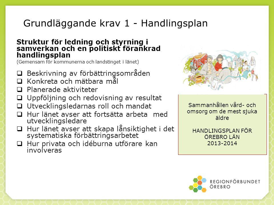 Grundläggande krav 1 - Handlingsplan Struktur för ledning och styrning i samverkan och en politiskt förankrad handlingsplan (Gemensam för kommunerna o
