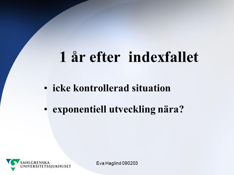 Eva Haglind 090203 1 år efter indexfallet icke kontrollerad situation exponentiell utveckling nära?