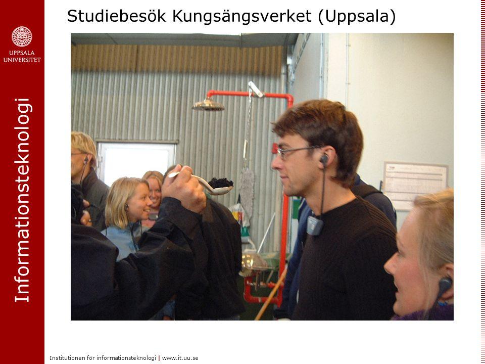 Informationsteknologi Institutionen för informationsteknologi | www.it.uu.se Studiebesök Kungsängsverket (Uppsala)