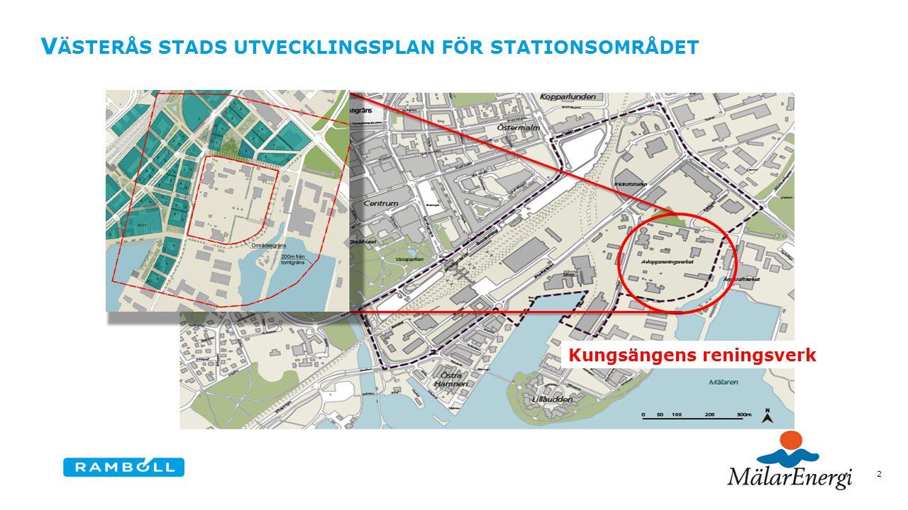 V ÄSTERÅS STADS UTVECKLINGSPLAN FÖR STATIONSOMRÅDET 2 Kungsängens reningsverk