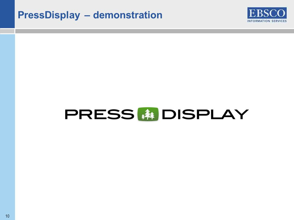 10 PressDisplay – demonstration