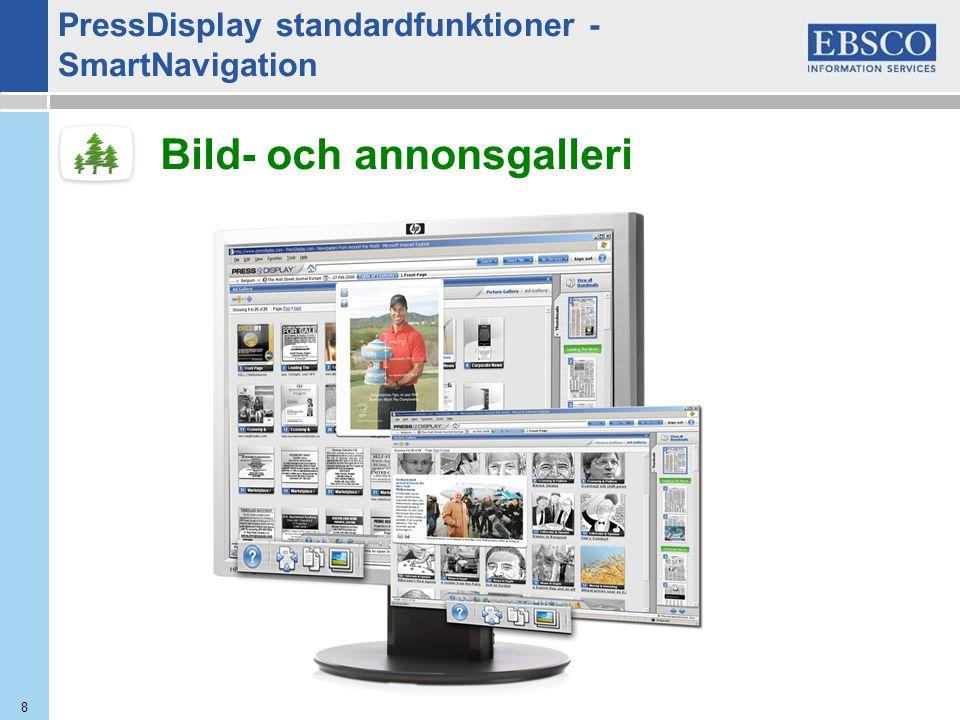 8 Bild- och annonsgalleri PressDisplay standardfunktioner - SmartNavigation