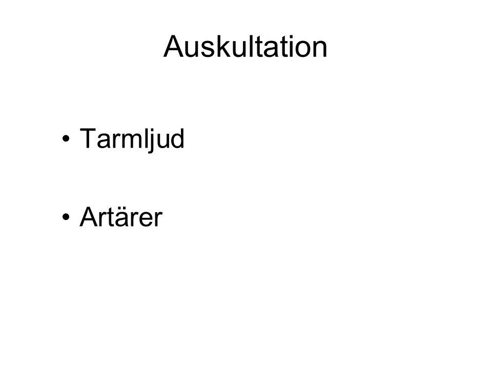 Auskultation Tarmljud Artärer