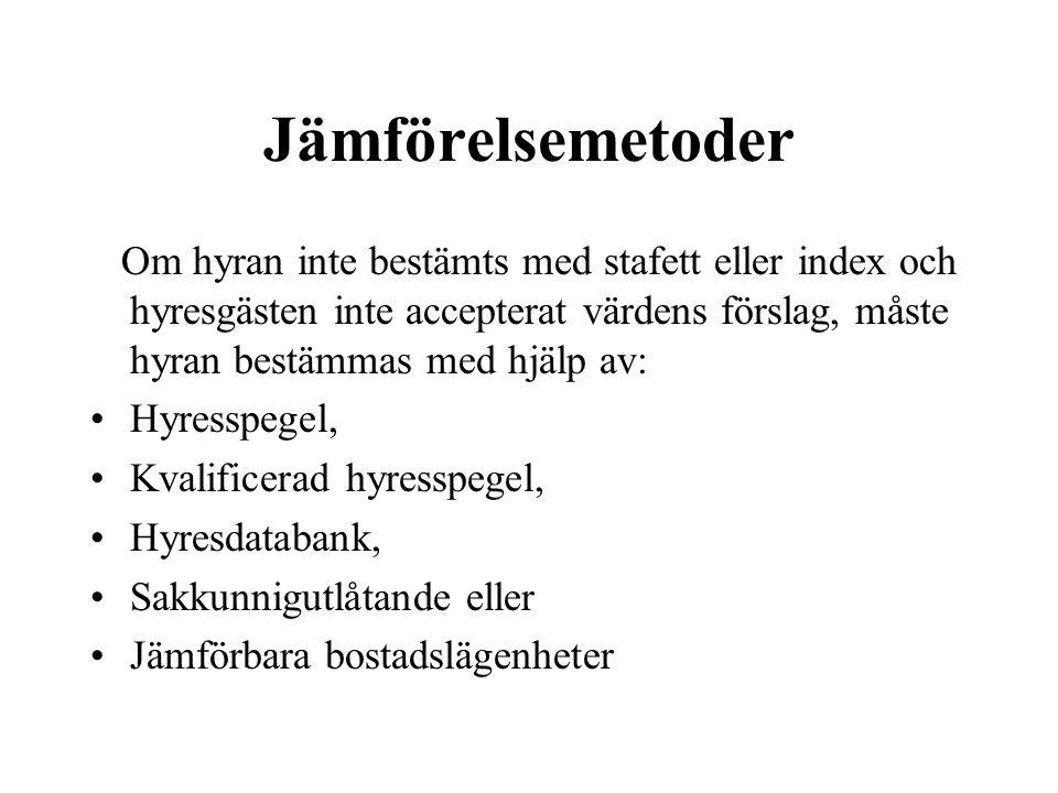 Hyresspegel § 558 c En översikt över ortsvanliga jämförelsehyror Bestäms av orten (Gemeinde) eller av intresseorganisationer Skall spegla två års hyresutveckling