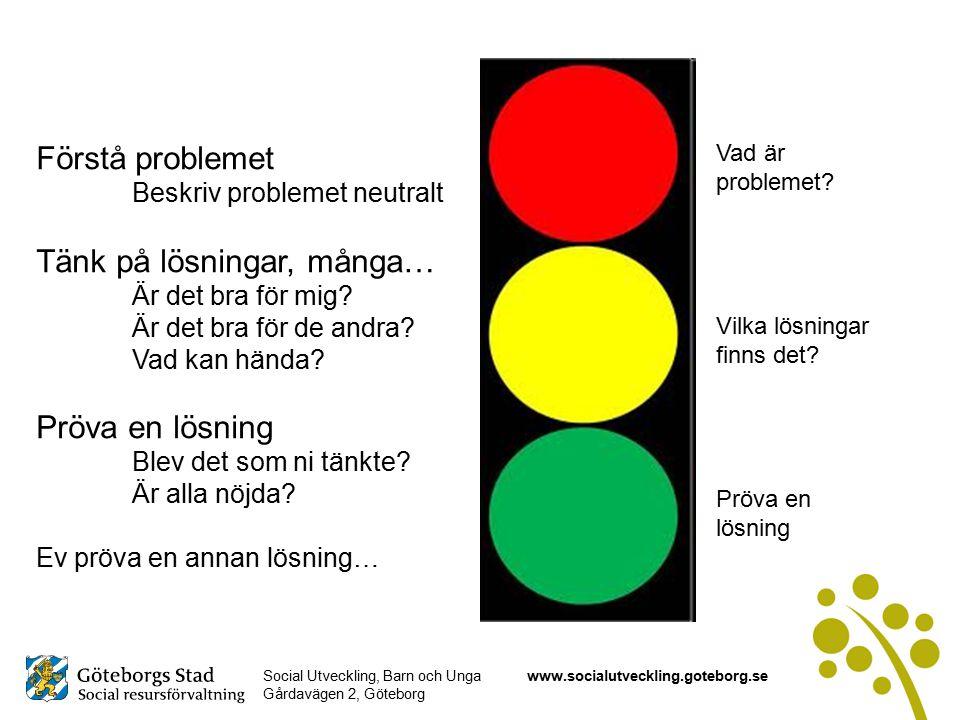Social Utveckling, Barn och Unga Gårdavägen 2, Göteborg www.socialutveckling.goteborg.se Vad är problemet.