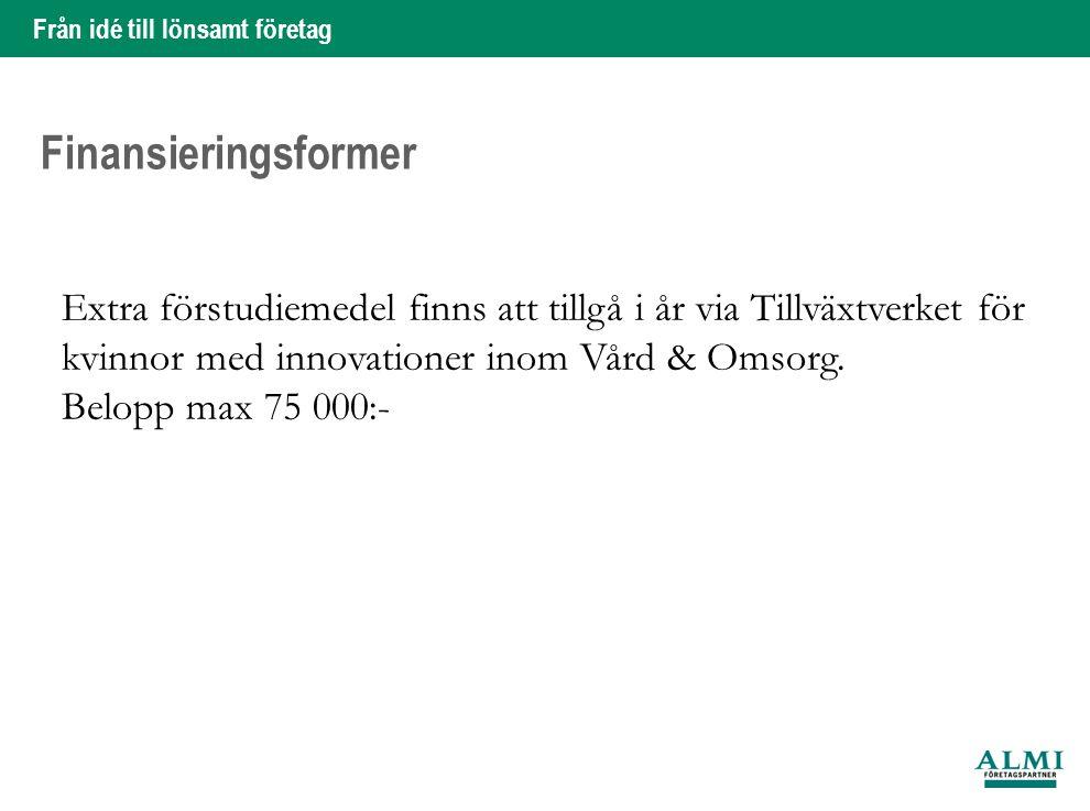 Från idé till lönsamt företag 6 Hans Silveborg Vad kan en Innovation/uppfinning tillföra vården.