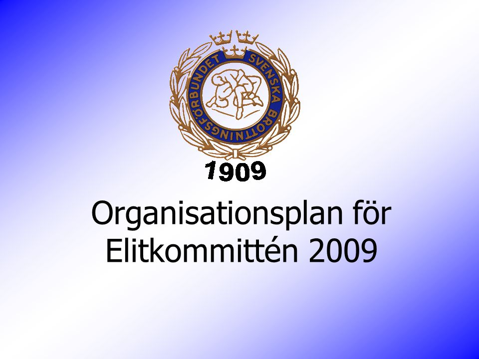 Organisationsplan för Elitkommittén 2009