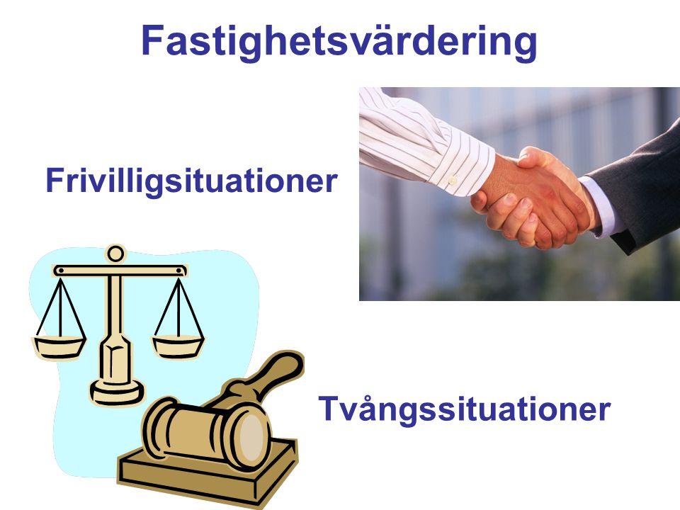 Fastighetsvärdering Frivilligsituationer Tvångssituationer