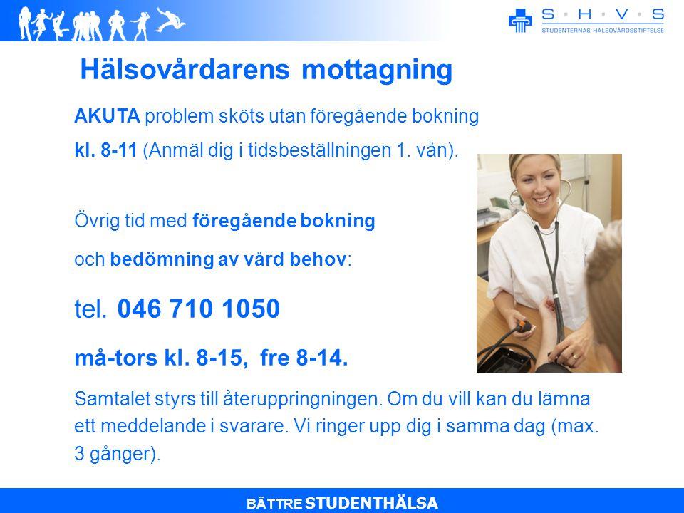 BÄTTRE STUDENTHÄLSA Ta i bruk Medborgarkontot  Möjliggör säker kommunikation mellan SHVS och studenten.