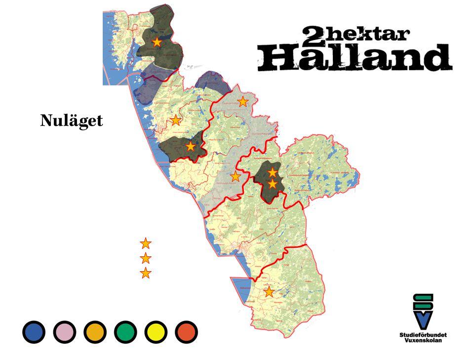 Halmstad och Laholm är i praktiken klart.Halmstadgruppen kör nu i Hylte, i Torupsområdet.