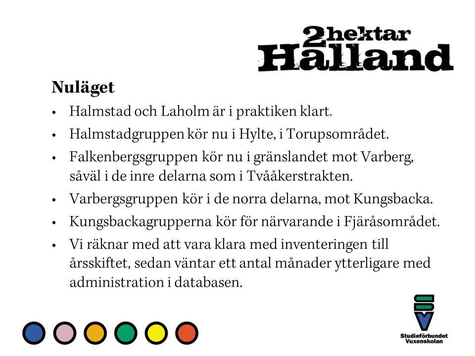 Halmstad och Laholm är i praktiken klart. Halmstadgruppen kör nu i Hylte, i Torupsområdet.
