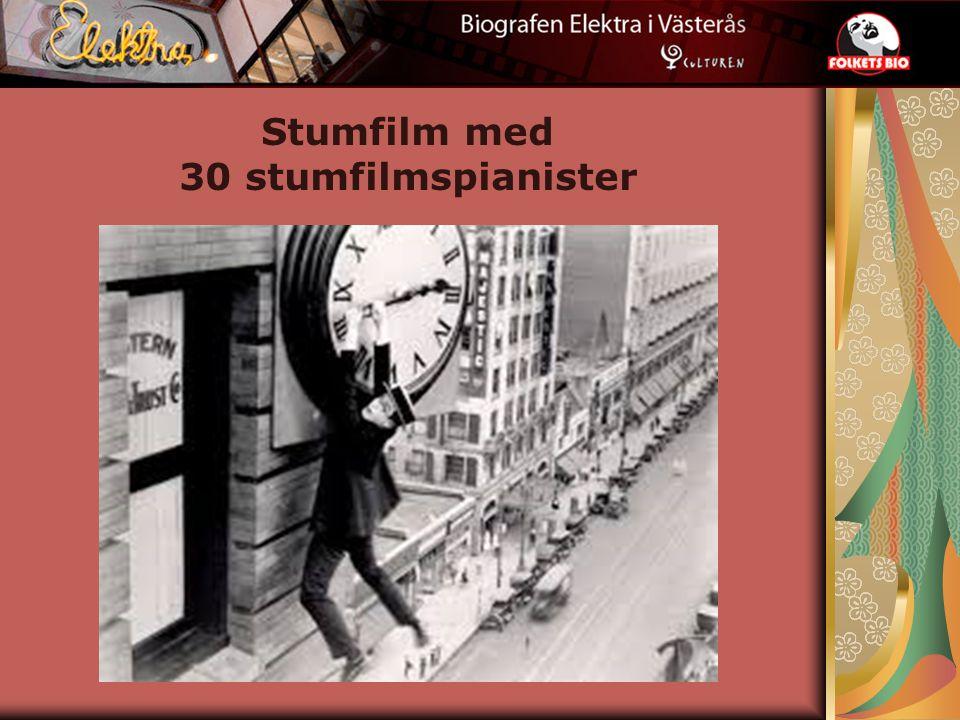 Stumfilm med 30 stumfilmspianister