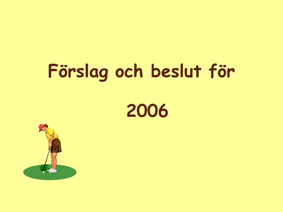 Förslag och beslut för 2006