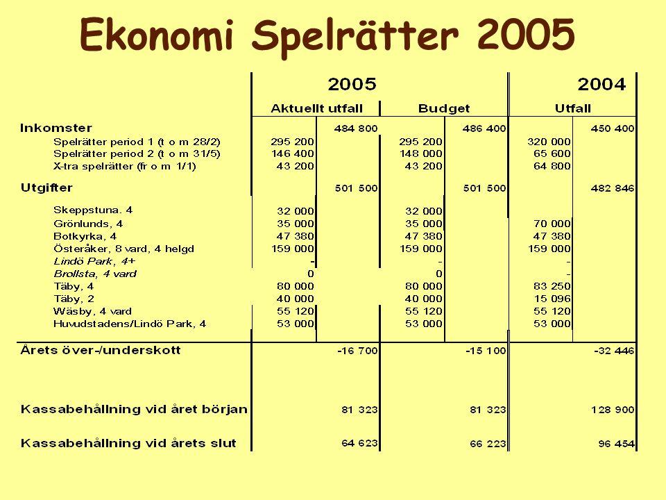 Ekonomi Spelrätter 2005
